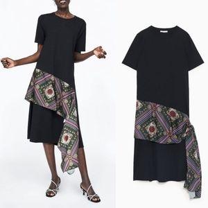 NEW Zara shift dress with a scarf